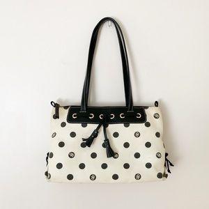 Dooney & Bourke | Polka Dot Canvas Shoulder Bag